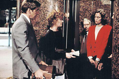 Coat, Suit, Blazer, Vintage clothing, Conversation, Belt,