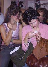 Diane von Furstenberg Fall 2003 Ready-to-Wear Backstage 0003