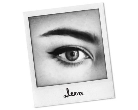 Alexa Chung Eyes Beauty with Eyeko