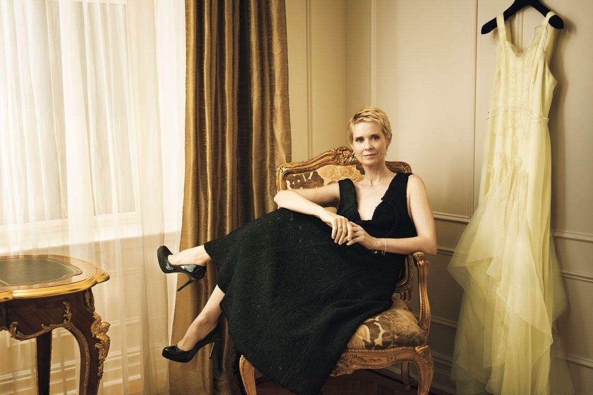 Cynthia Nixon Wedding Dress - Cynthia Nixon Married to Christine ...