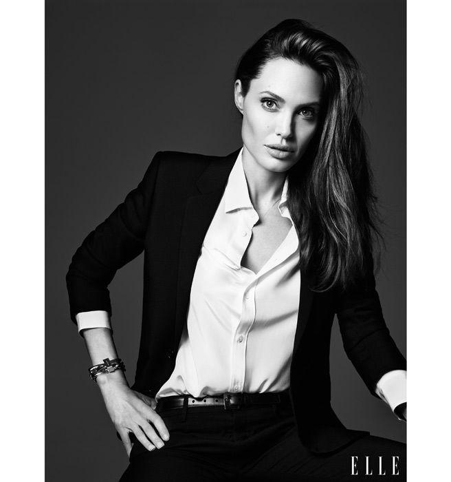 9098472df70 Angelina Jolie ELLE June Cover - Angelina Jolie on Her Rebellious Past