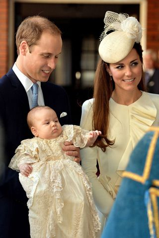 Mother-Son Cuteness: Kate Middleton and Prince George Match at the Royal Christening