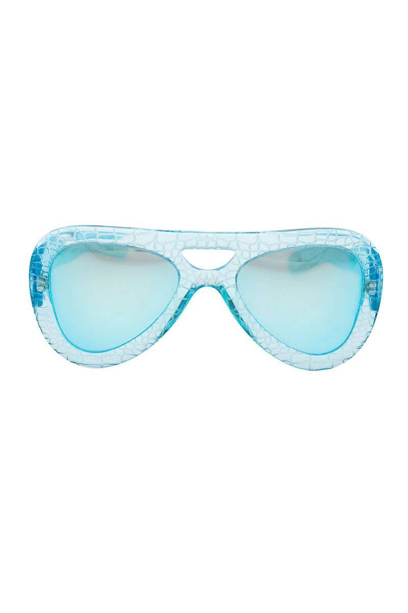 alberta ferretti turquoise sunglasses