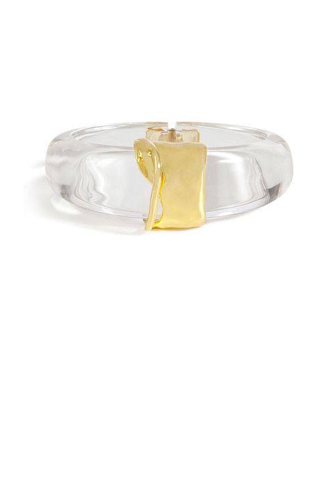 alexis bittar modernist gold orbiting bracelet