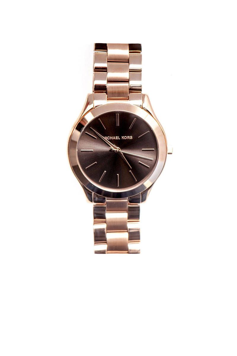 michael kors slim three hand watch