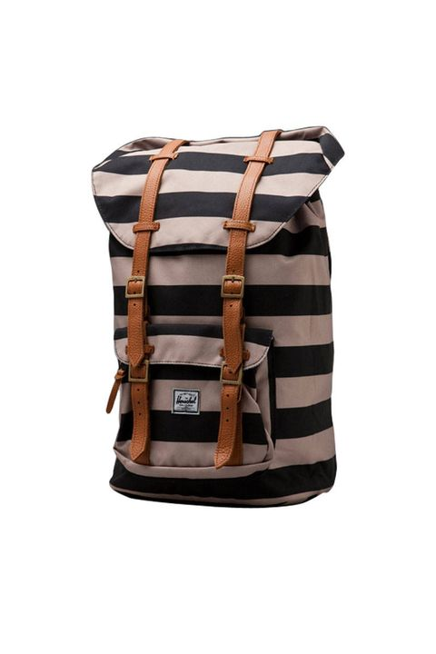 herschel striped backpack