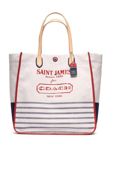 saint jame coach canvas tote