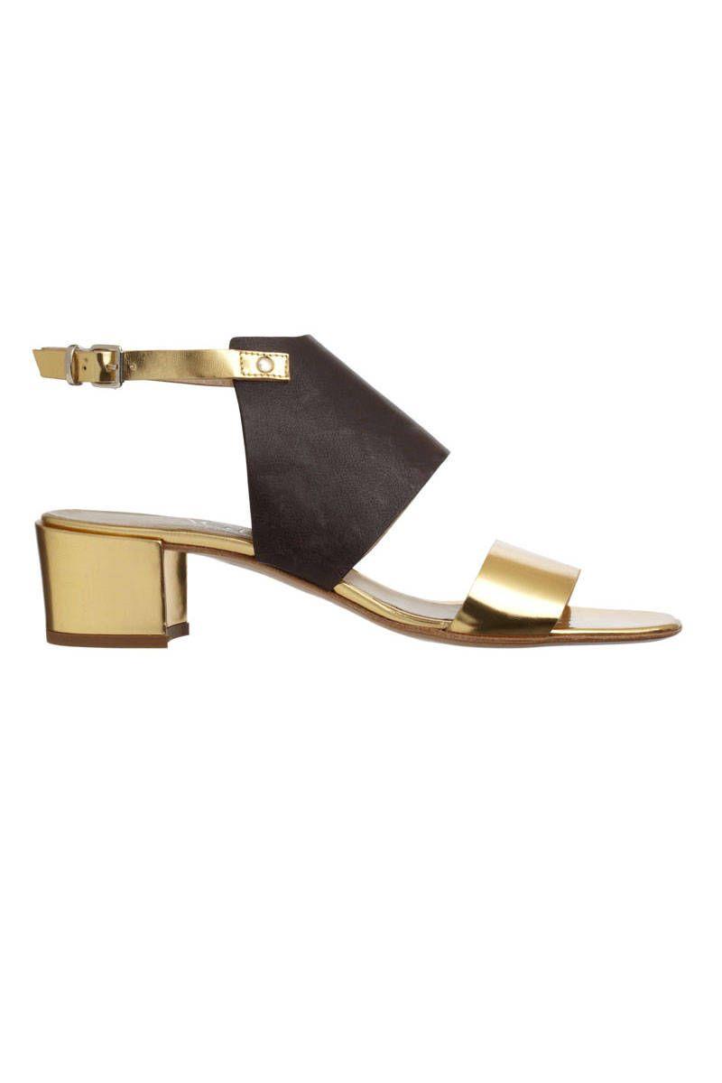 agl black and gold sandal