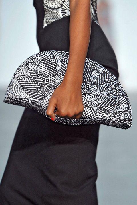 Clothing, Shoulder, Textile, Joint, Pattern, White, Waist, Style, Fashion, Black,