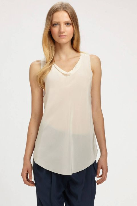 3 1 phillip lim draped silk tank