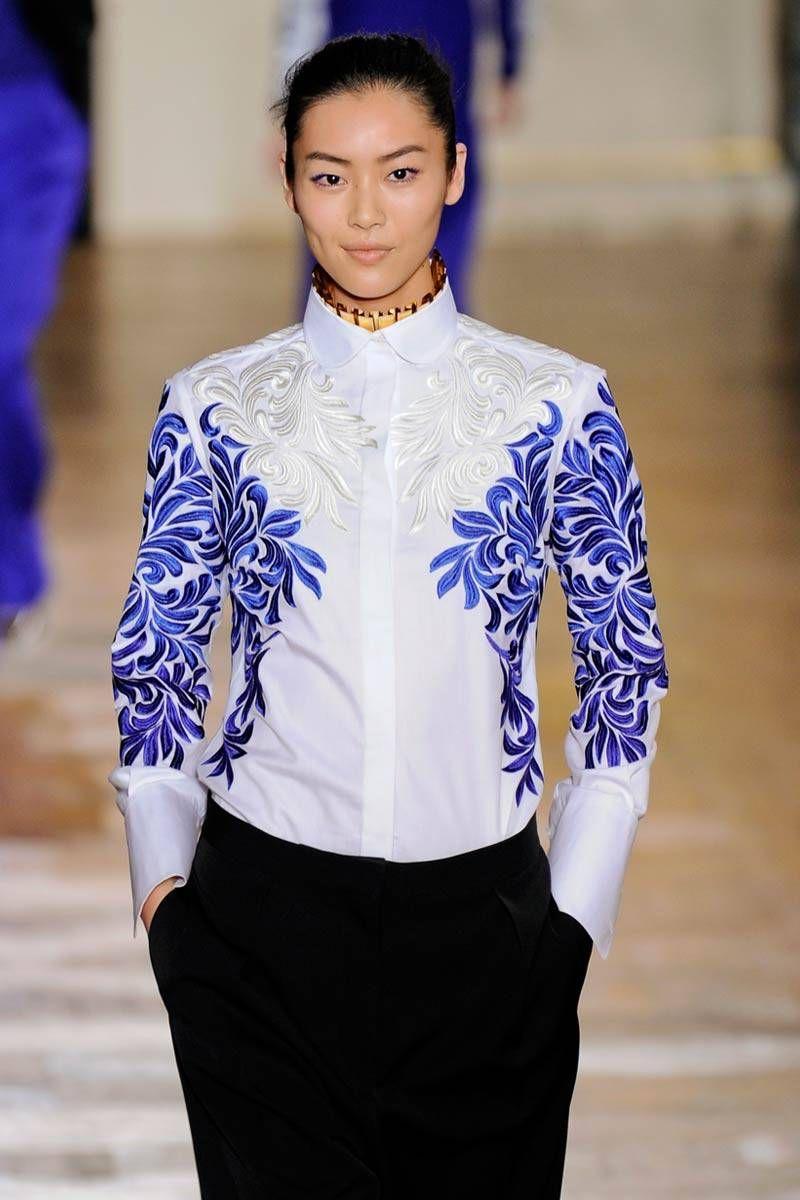 stella mccartney fall 2012 embroidered shirt
