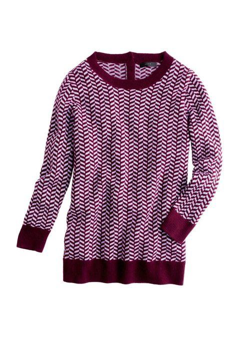 j crew red chevron cashmere sweater