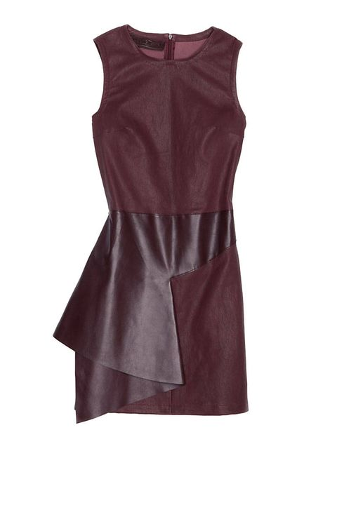 neil barrett oxblood leather dress leather