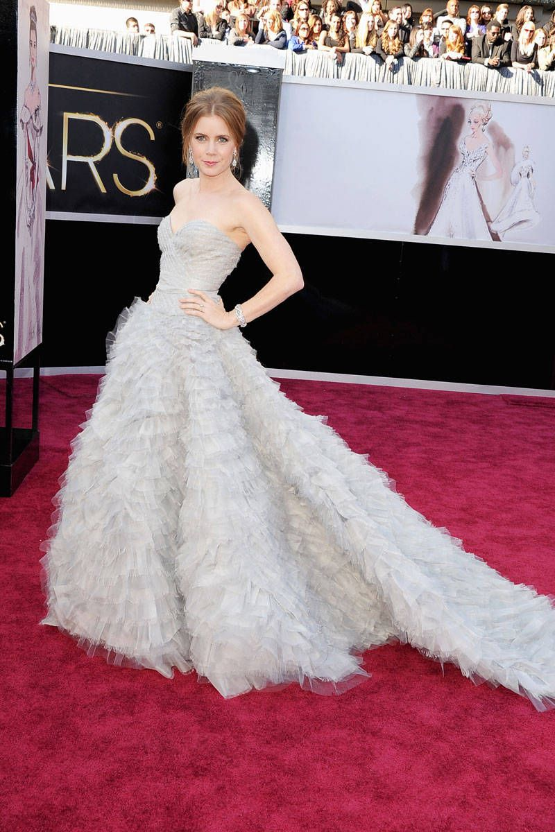 amy adams oscars 2013 red carpet dress