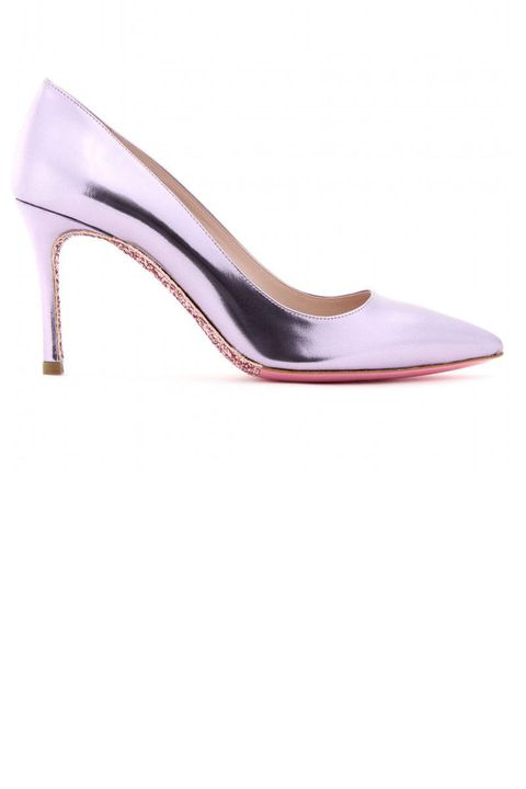Miu Miu Glitter Sole Patent Leather Pumps