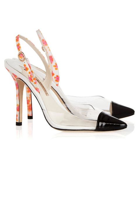 sophia webster pvc leather slingback
