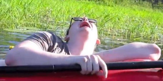 Great Thing of the Day: Guy Falls Slowly, Miserably, Out of a Kayak