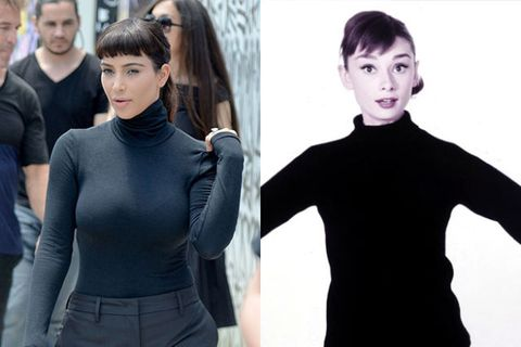 10 Women As Audrey Hepburn Kim Kardashian