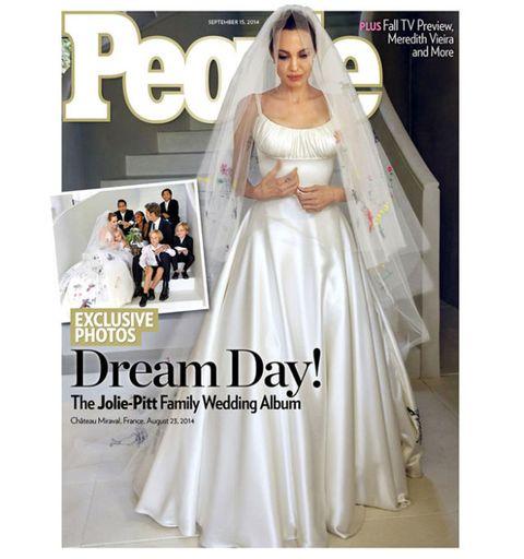 See Angelina Jolie\'s Wedding Dress-Angelina Jolie Versace Wedding Dress