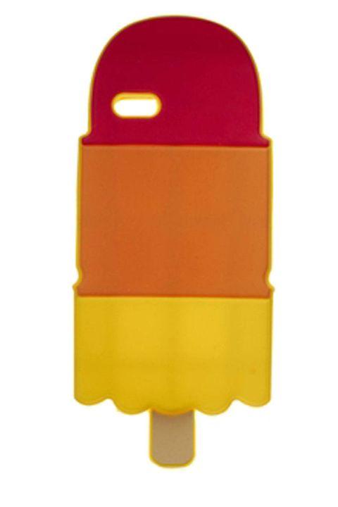 Yellow, Amber, Orange, Rectangle, Ice pop, Plastic, Ice cream bar,