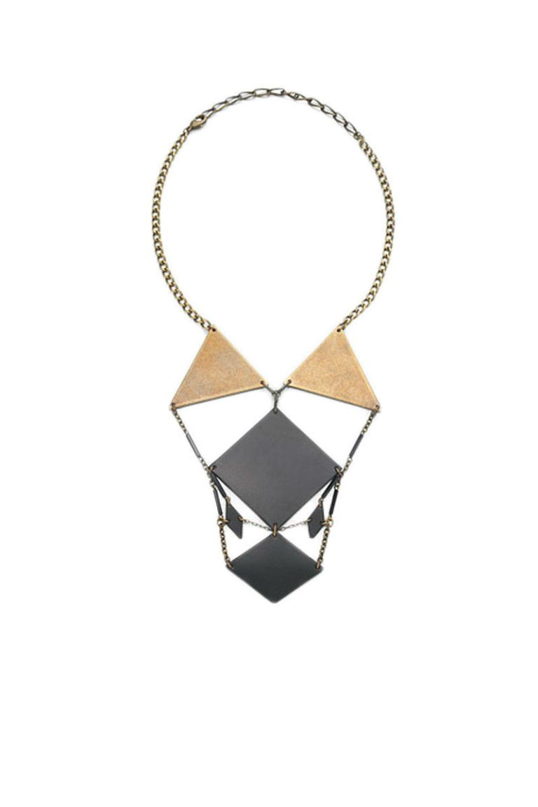 bliss lau voluptuous mantle geometric bib necklace