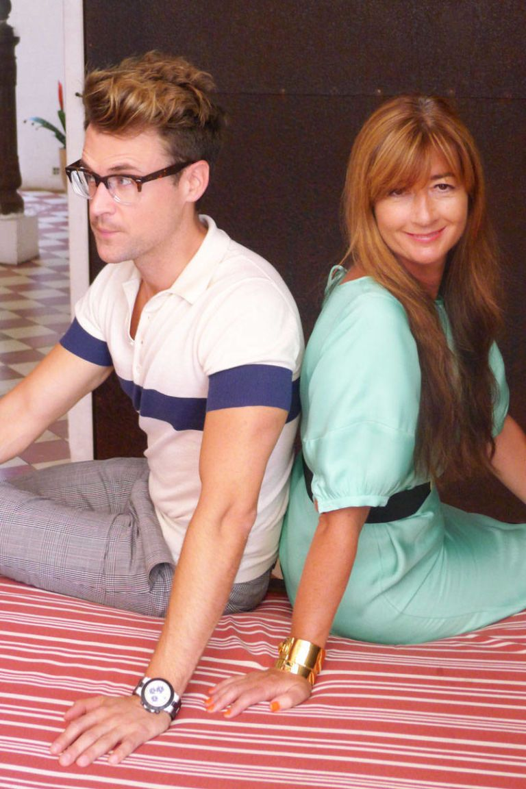 brad goreski and deborah lloyd at hotel santa theresa