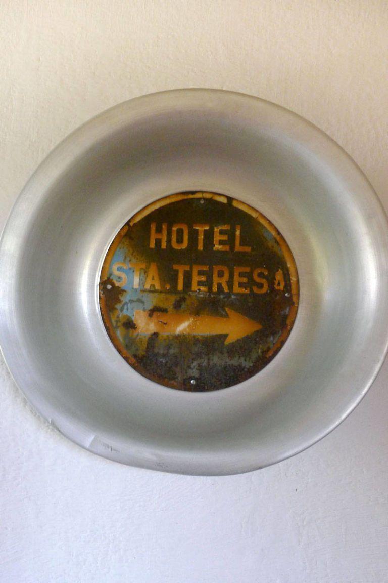 hotel santa theresa sign