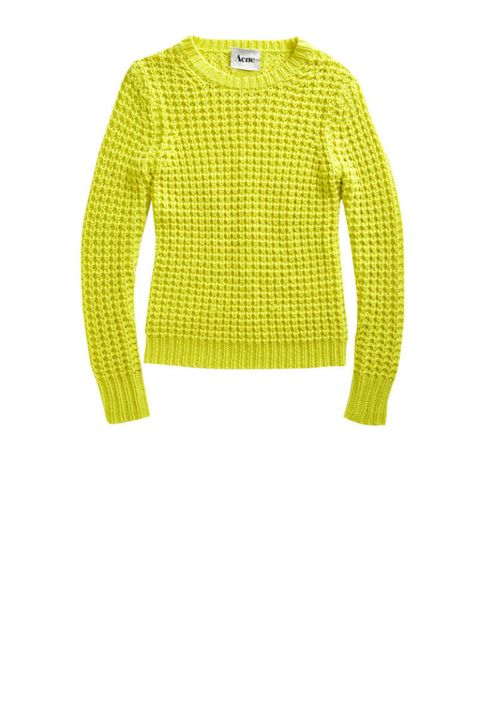 acne lina pineapple sweater