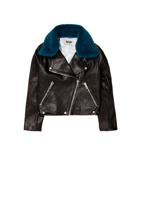 goat leather jacket acne