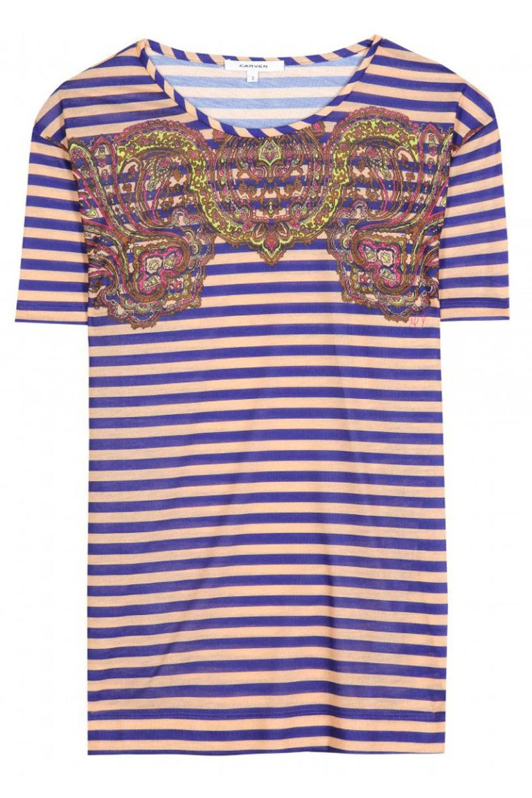 carven paisley print top