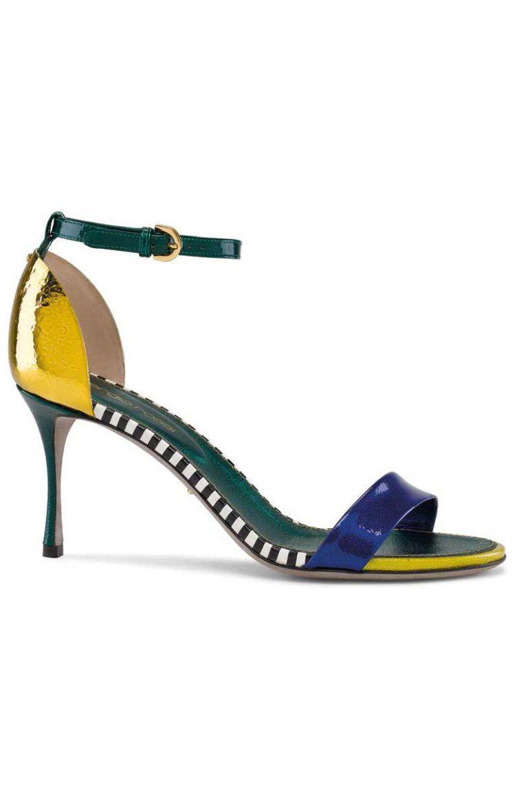 sergio rossi flashy mid-heel sandals