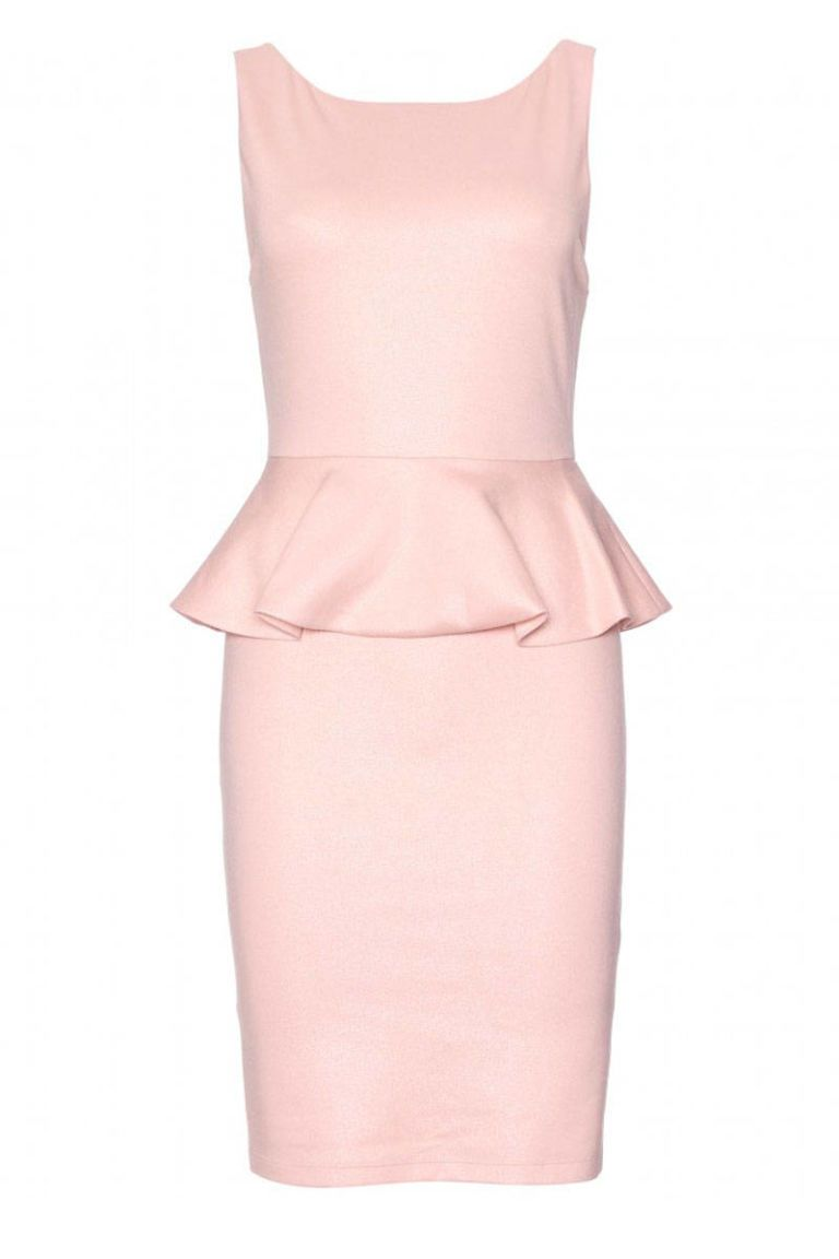 alice olivia tracey tailored dress with peplum