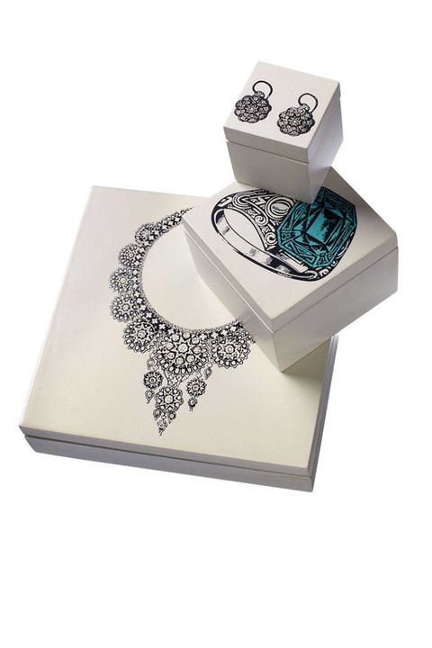 Jewellery, Body jewelry, Teal, Rectangle, Paper product, Gemstone, Diamond, Silver, Natural material, Notebook,