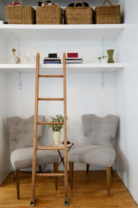 After: Seating and Shelving