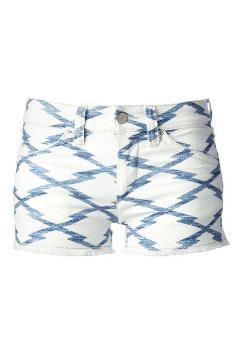 Blue, Product, Textile, White, Denim, Electric blue, Cobalt blue, Pocket, Bermuda shorts, Pillow,