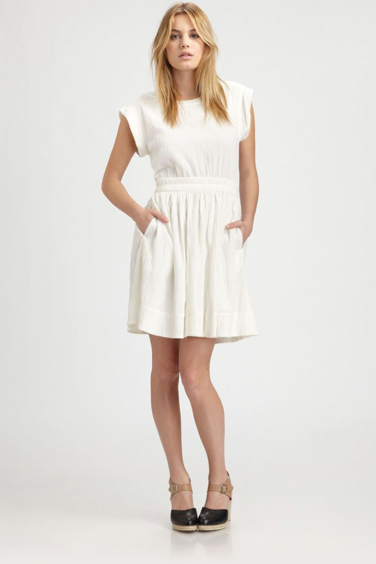 marc by marc jacobs white linen dress