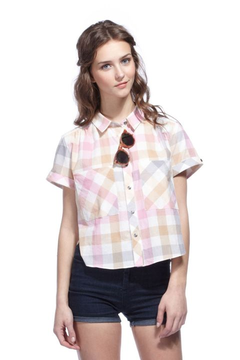 dolce vita martine madras plaid shirt