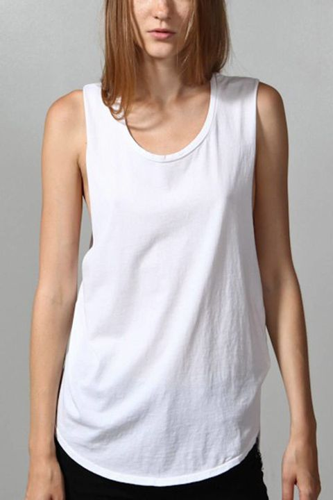 oak nyc extended hem white muscle tee tank top