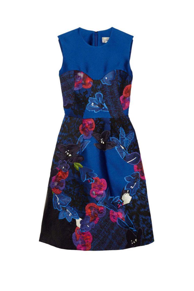 erdem blue embroidered floral dress