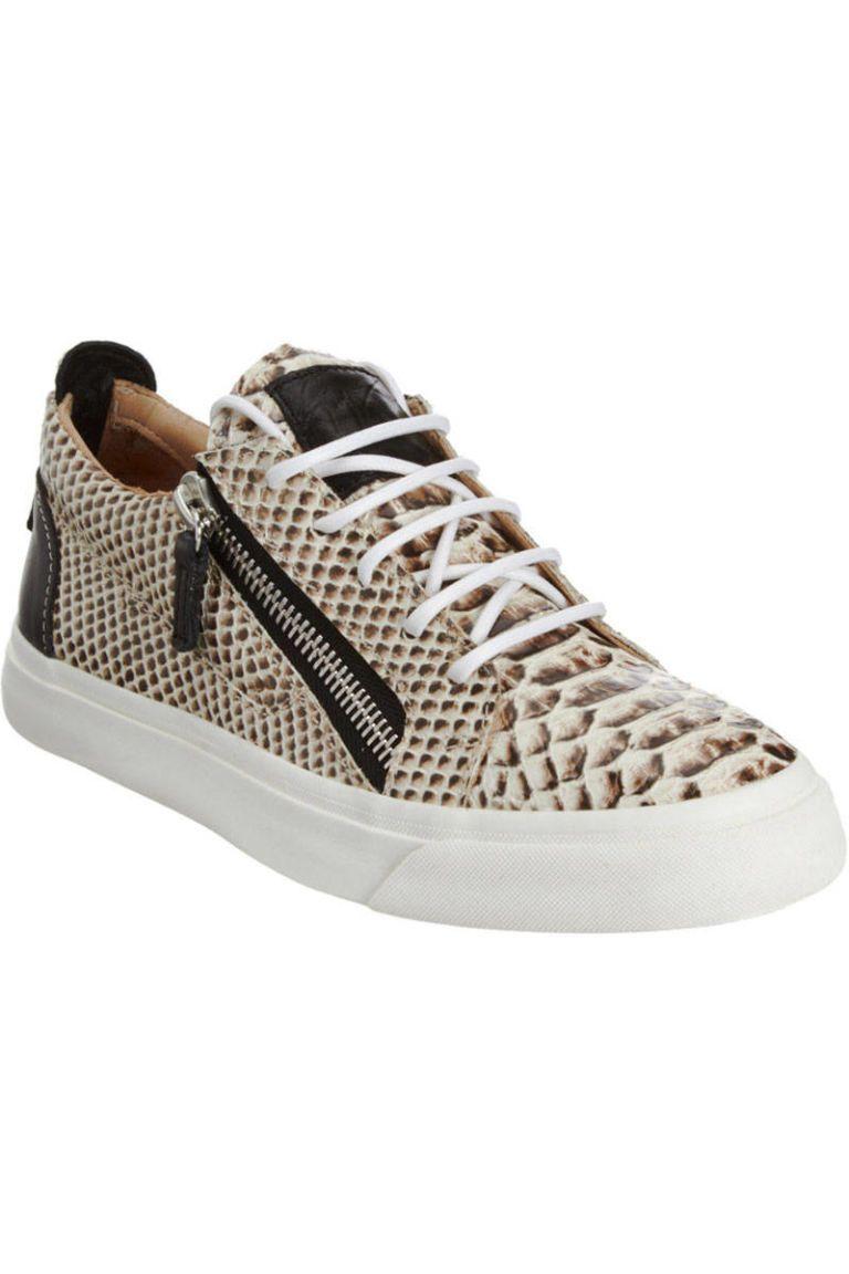 giuseppe zanotti snakeskin sneakers