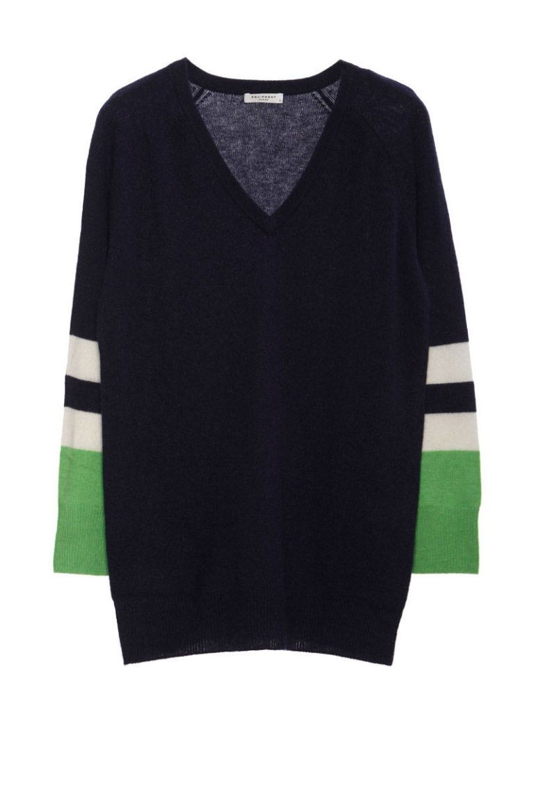equipment color block cashmere sweater