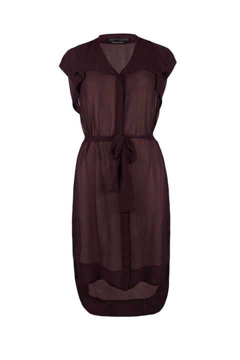 all saints hayworth oxblood sheer dress