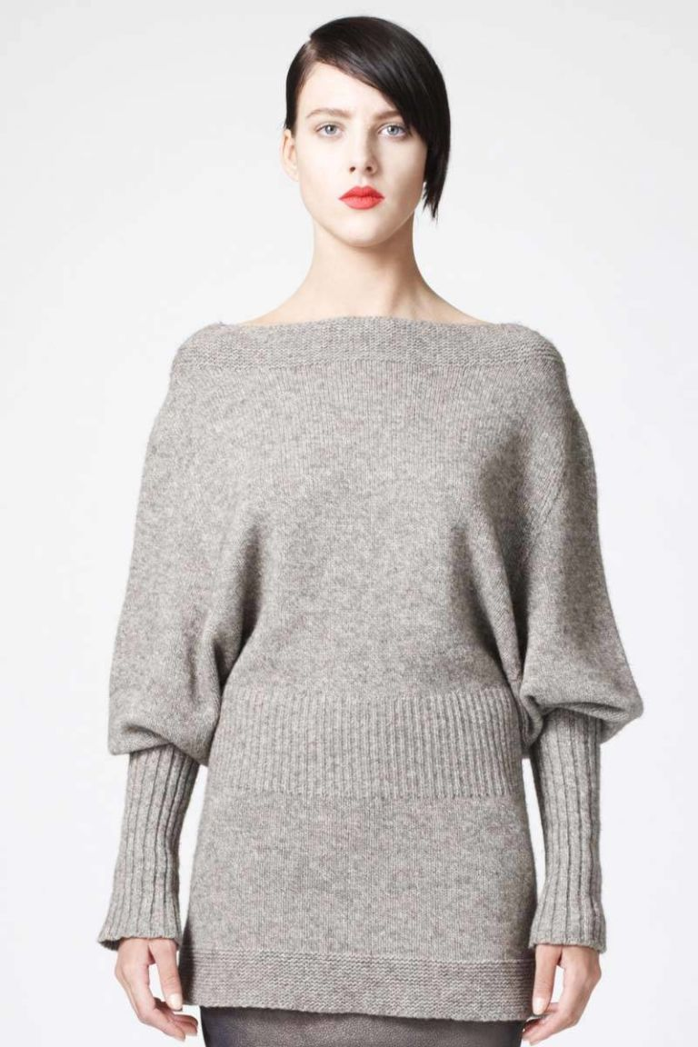 rick owens bateau gray sweater
