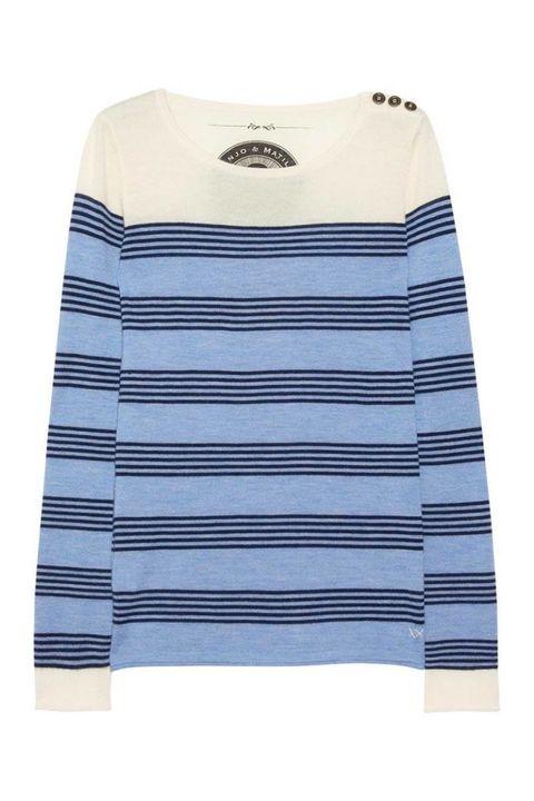 banjo matilda blue striped cashmere sweater