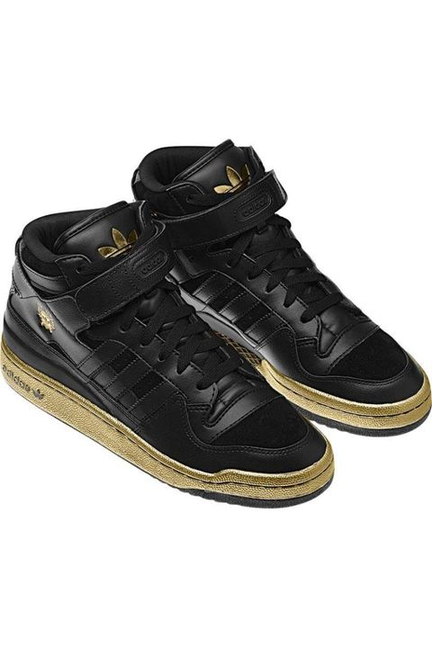 adidas black gold high tops