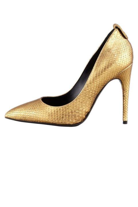 Tom Ford Metallic Python Pointed-Toe Pumps