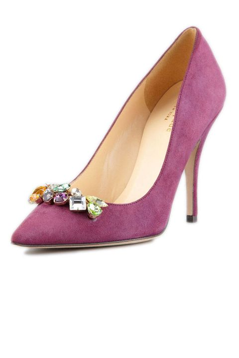 kate spade purple suede pumps