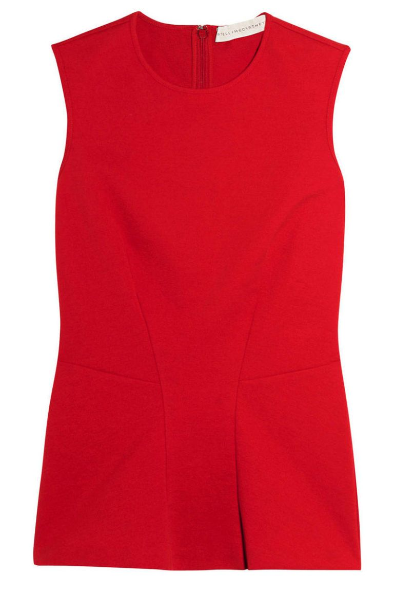 stella mccartney red stretch tank
