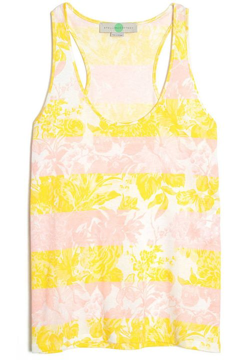 stella mccartney striped floral tank