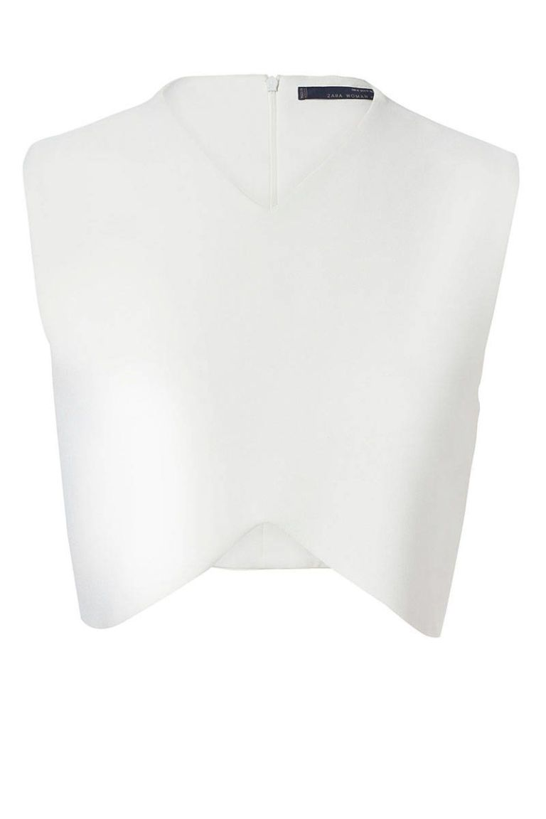 zara cropped sleeveless top